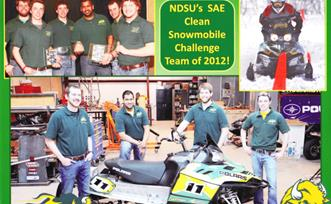 North Dakota State University SAE Clean Snowmobile Challenge