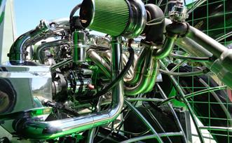 2Insane Custom Turbo Airboat Headers